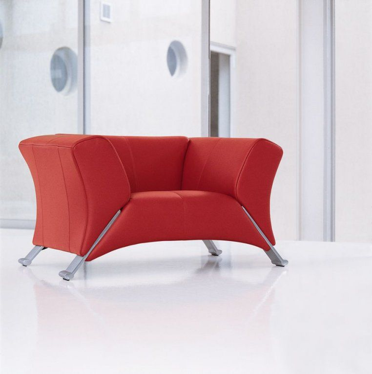 Rolf Benz Model 322 Chair In Red Leather  Plaisier  We Love Rolf von Rolf Benz Sessel 322 Photo