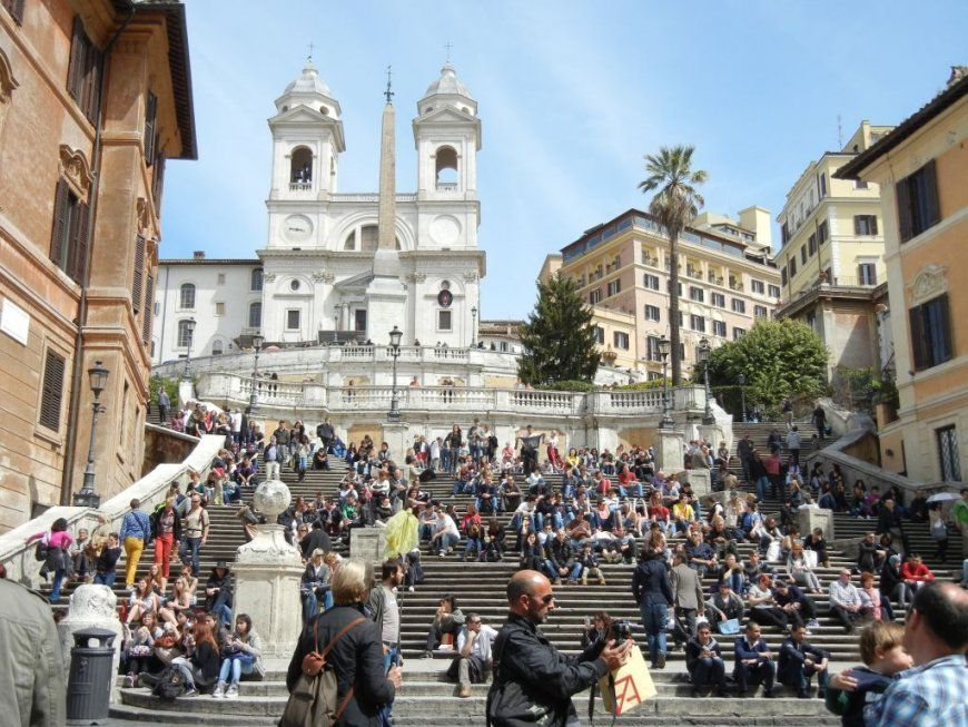 Rom – Ewige Stadt – Elke & Matthias von Spanische Treppe Rom Gesperrt Photo