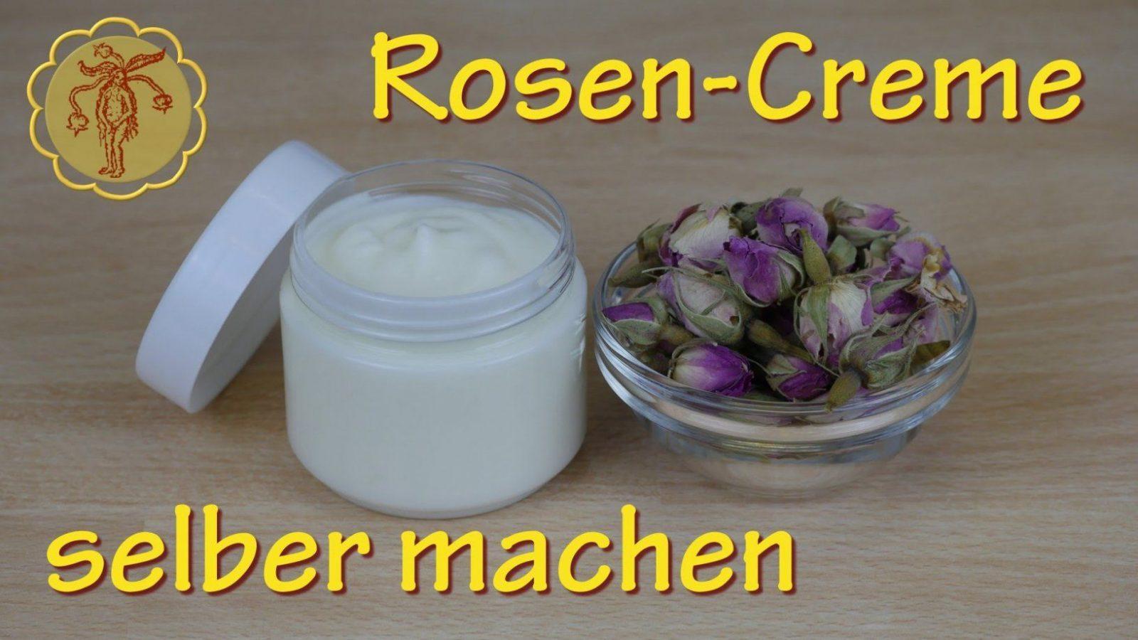 Rosencreme Selber Machen  Für Normale Und Trockene Haut 2  Youtube von Lavendel Creme Selber Machen Bild