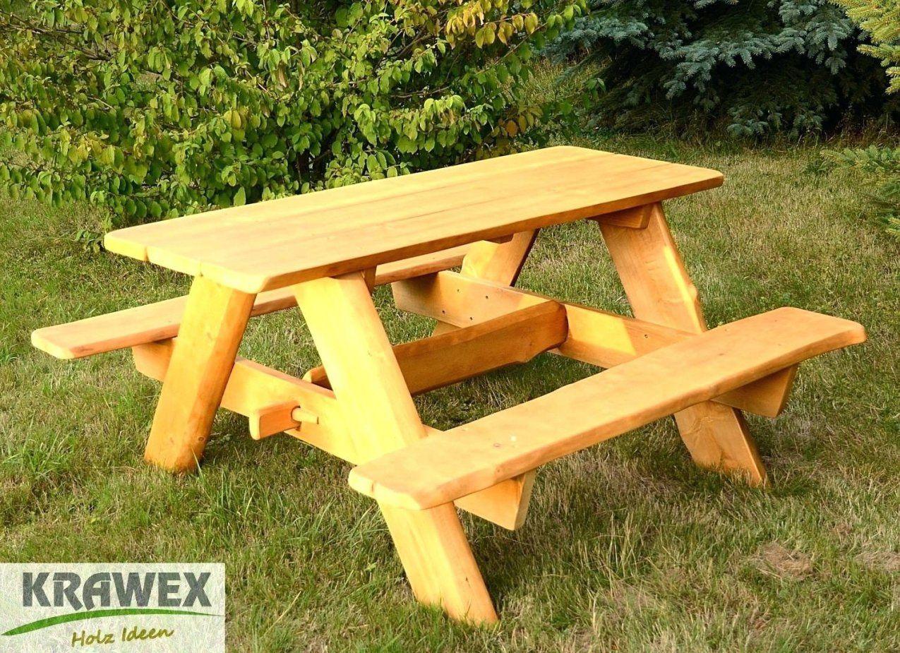 Rustikale Holzbank Charmante Inspiration Tisch Sitzgarnitur Und von Gartenbank Holz Rustikal Selber Bauen Bild