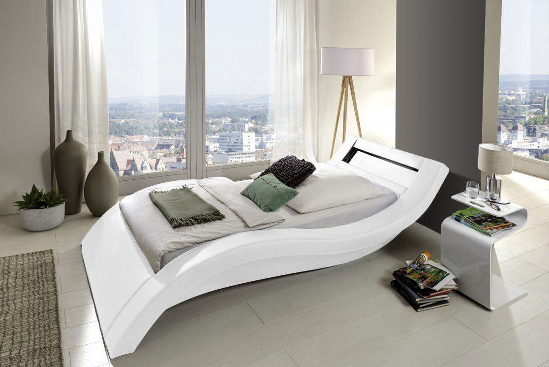 Sam® Polsterbett 90 X 200 Cm Beleuchtung Farbauswahl Look von Bett Hochglanz Weiß 90X200 Bild