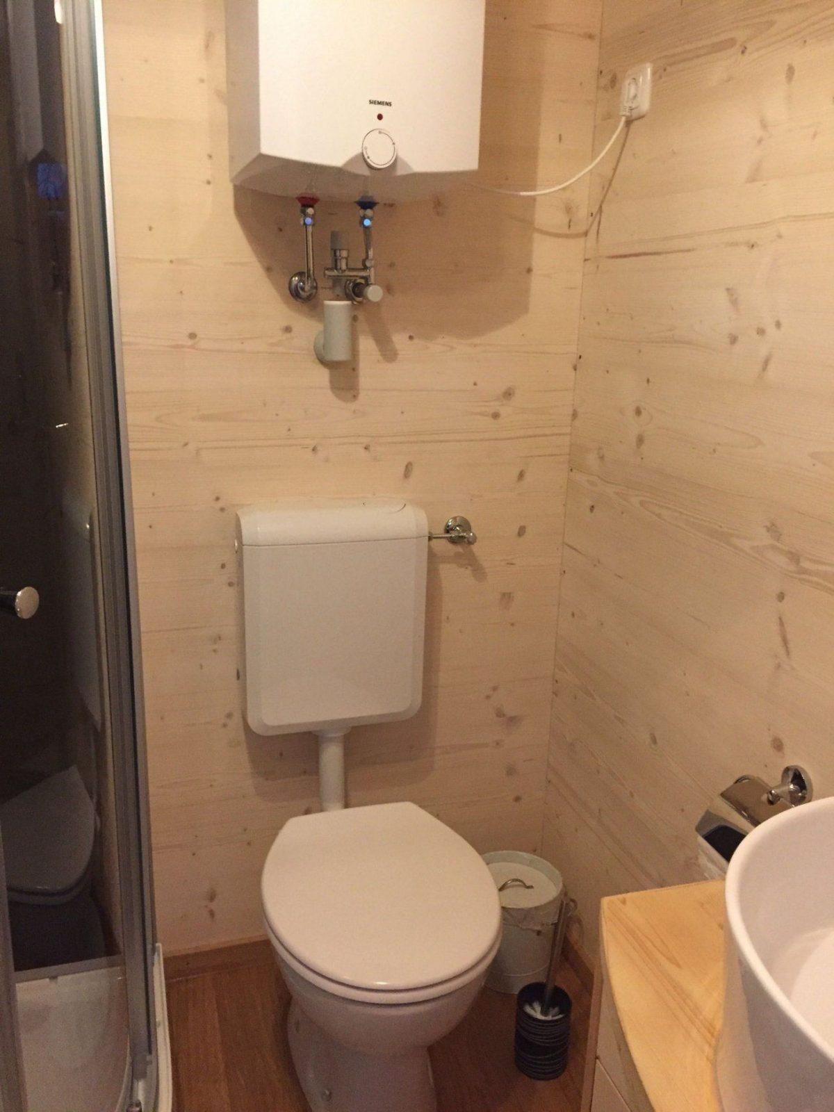 Sanitär  Dusche & Wc  Holzbau Pletz von Dusche Im Gartenhaus Einbauen Bild