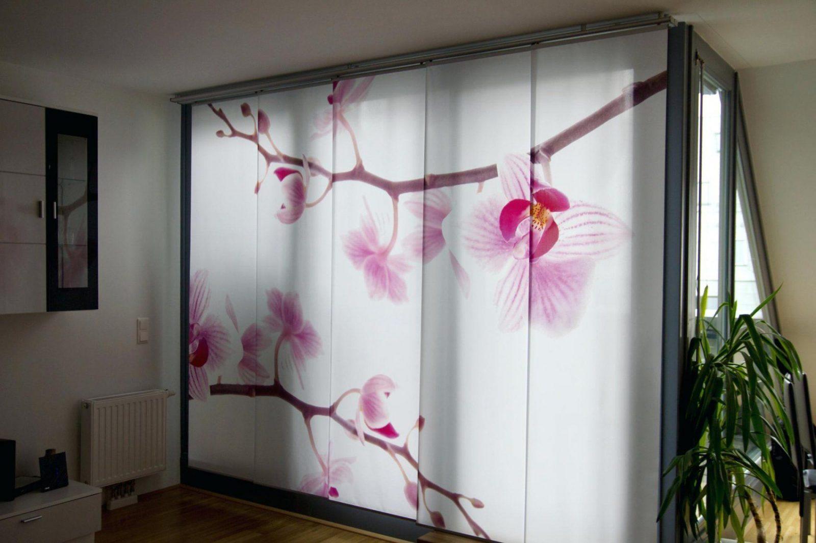 Schiebevorhang Blickdicht Motiv Schiebevorhange Weiss Grau von Schiebevorhang Blickdicht Als Raumteiler Bild