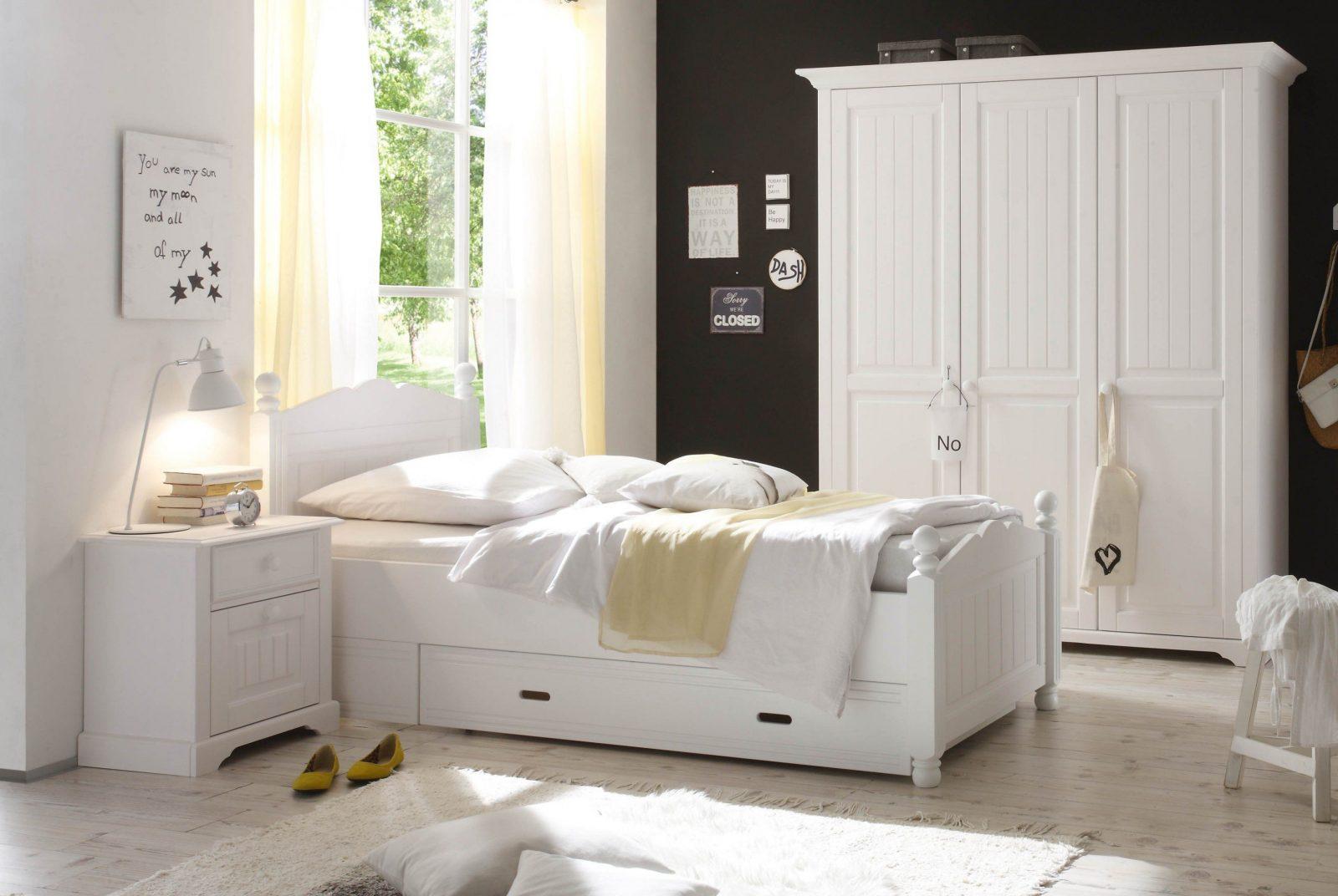 Schlafkontor Cinderella Bett Kiefer Weiß  Möbel Letz  Ihr Onlineshop von Bett Landhausstil Weiß 90X200 Photo