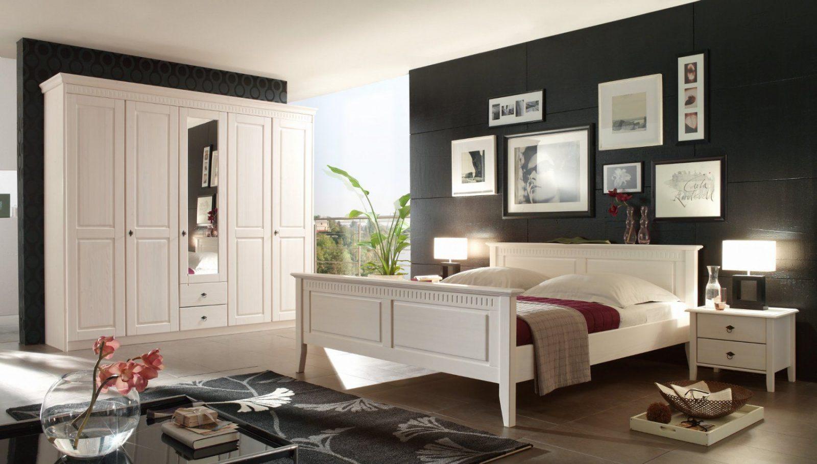 Schlafzimmer Kiefer Massiv Weiß Im Landhausstil Bolzano von Schlafzimmer Im Landhausstil Weiß Bild