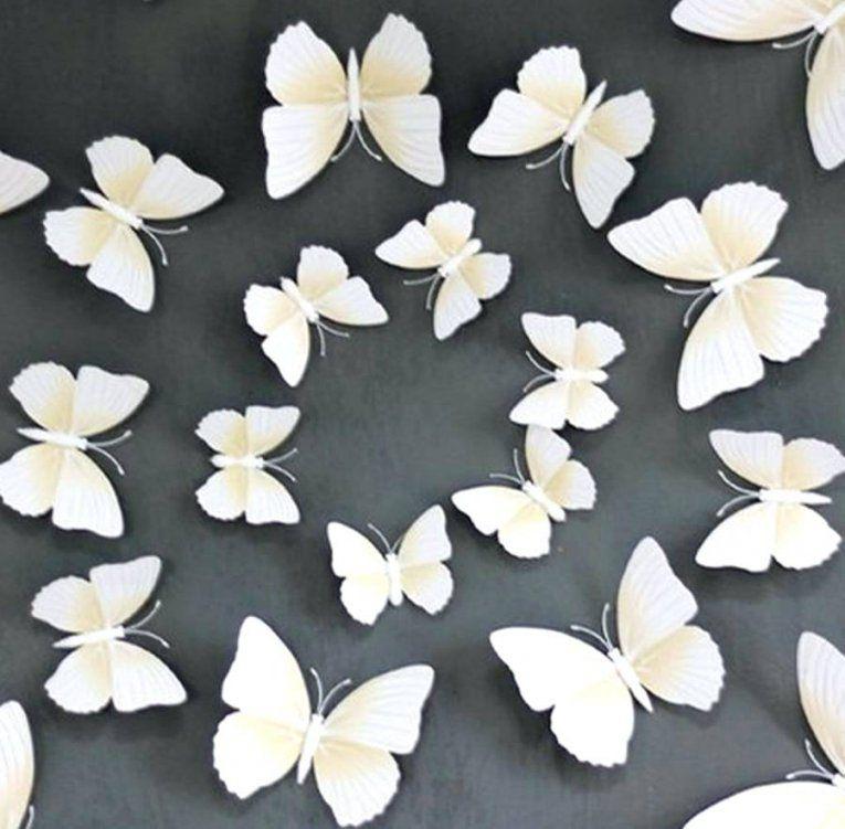 Schmetterlinge Wanddeko 3D 12Er Set Dekoration Wandtattoo von Schmetterlinge Wanddeko Selber Machen Photo