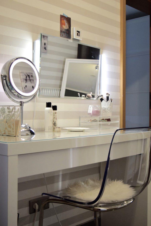 Schminktisch Mit Spiegel Tabeau Design Zum Fabelhaft Badezimmer von Spiegel Mit Beleuchtung Fuer Schminktisch Bild