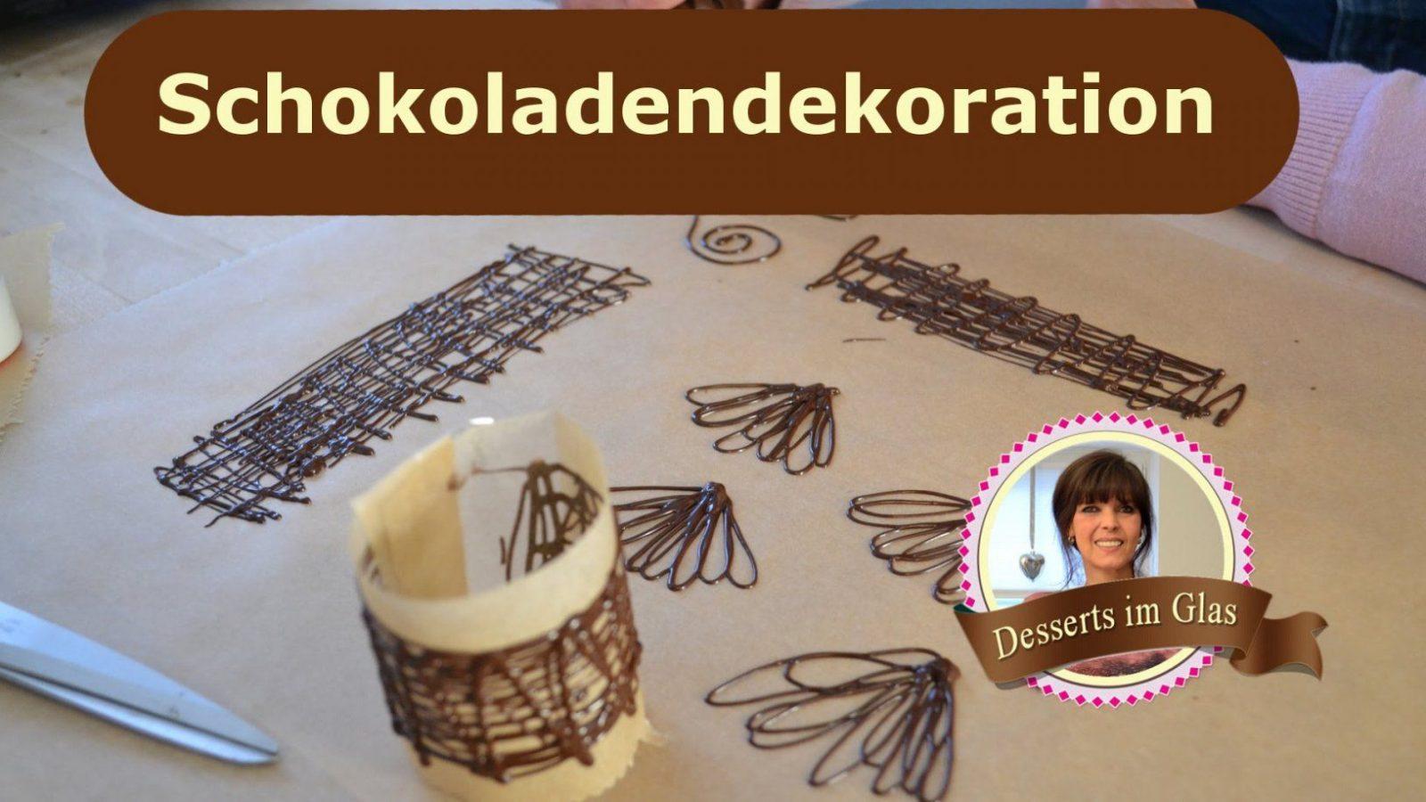 Schokoladen Dekor Für Desserts Und Kuchen Selber Machen  Schoko von Kuchen Dekoration Selber Machen Photo