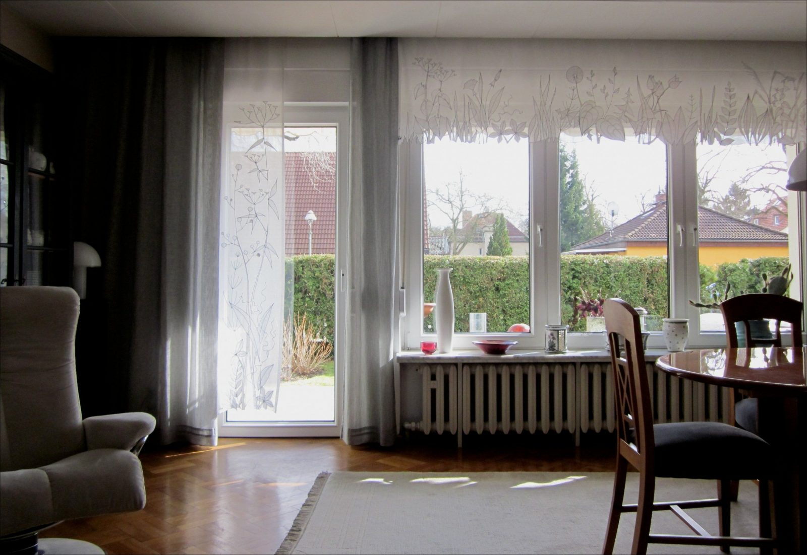 Schön Gardinen Großes Fenster Schema von Moderne Gardinen Für Große Fenster Photo