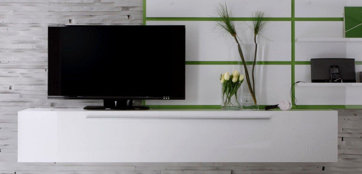 Schön Lowboard Weiß Hängend Verwunderlich Tv Weis Hochglanz Hangend von Sideboard Weiß Hochglanz Hängend Photo