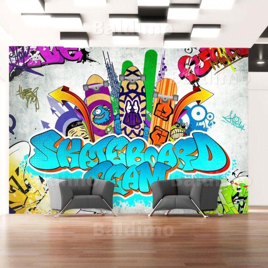 Schöne Ideen Wandbilder Jugendzimmer Und Tolle Coole Für von Wandtattoo Jugendzimmer Jungen Graffiti Photo