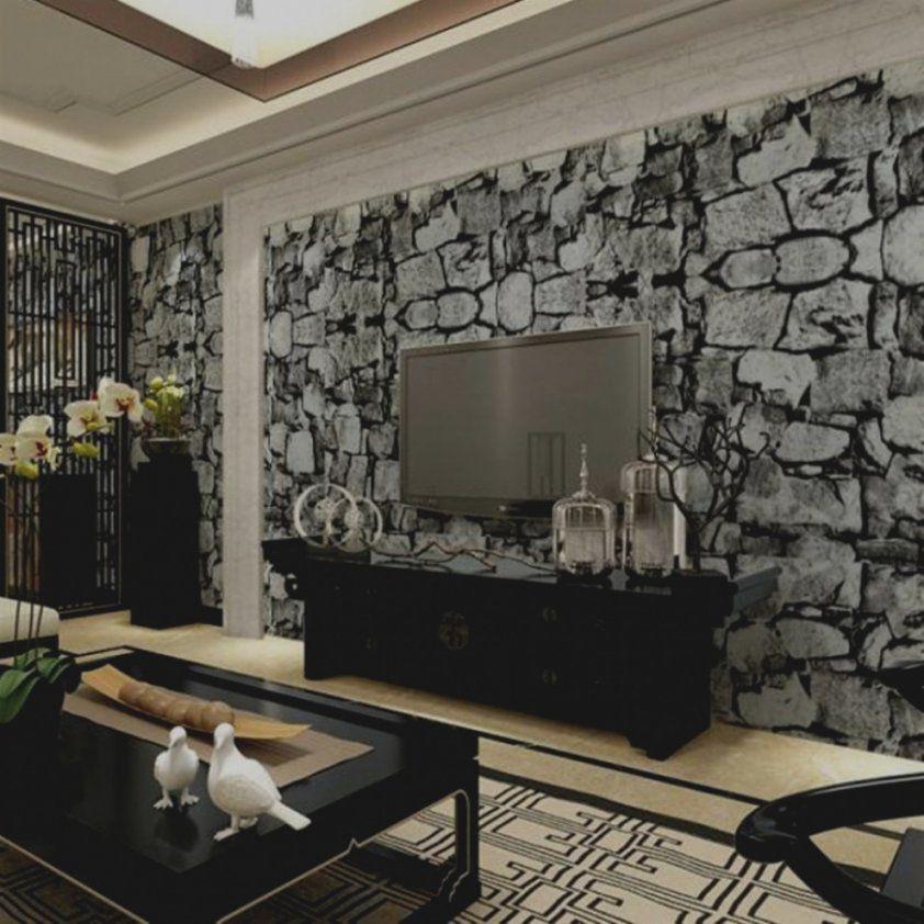 Schöne Wandgestaltung Mit Steintapete Skizzieren Ideen Auf Perfekt von Wandgestaltung Mit Tapeten Wohnzimmer Photo