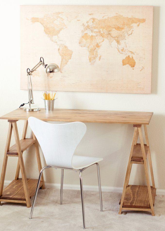 Schreibtisch Selber Bauen  20 Inspirationen Zum Nachmachen von Schreibtisch Regal Selber Bauen Bild