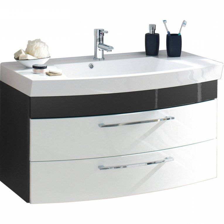 Schublade Gäste Wc Waschtisch Mit Unterschrank 70 Cm  Waschtisch von Waschtisch Mit Unterschrank 70 Cm Breit Bild
