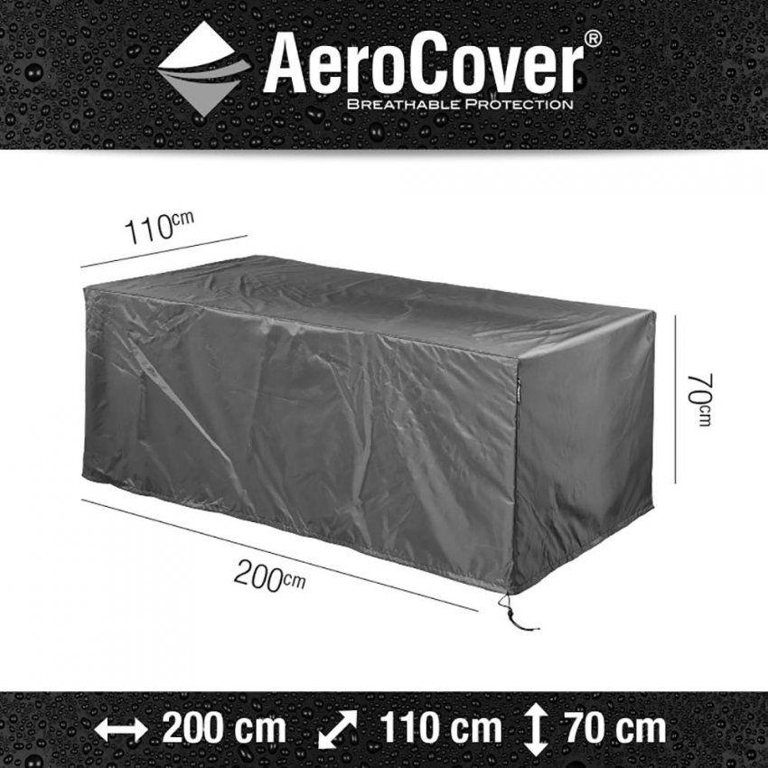 Schutzhaube Für Rechteckigen Gartentisch Von Aerocover von Gartentisch Abdeckung 200 X 100 Photo