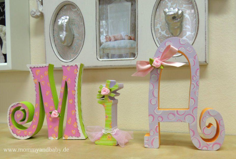 Schwangerschaft & Baby  Erinnerungen Schaffen Und Schenken Wie von Buchstaben Kinderzimmer Selber Machen Bild