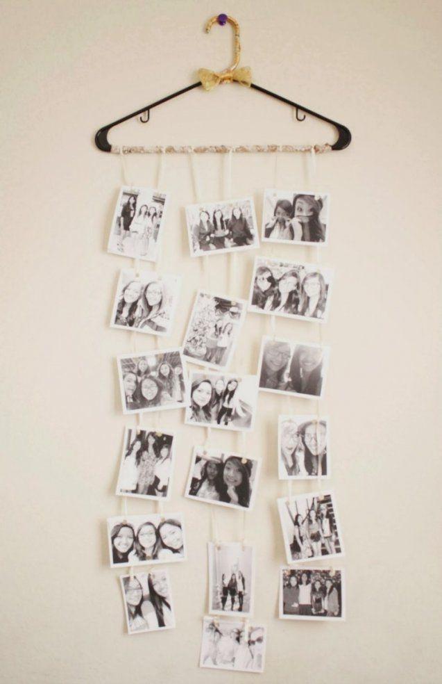 Schwarzweiße Fotos Am Kleiderbügel Hängen Lassen  Sonstiges von Collage Selber Machen Ideen Photo