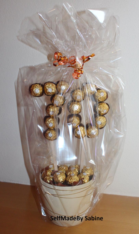 Selfmadeby Sabine Ferrero Rocher Geburtstagsüberraschung von Ferrero Rocher Baum Anleitung Bild