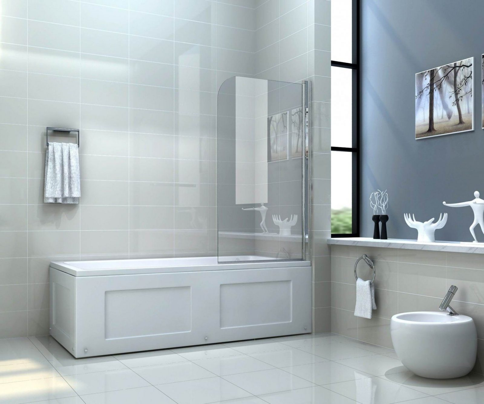Sepa 80 X 140 Cm Badewannen Faltwand Duschwand Badewannenaufsatz von Duschwand Glas Für Badewanne Bild