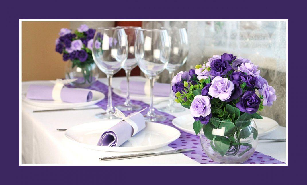 Servietten Falten Servietten Hochzeit Geburtstag Taufe Avec von Tischdeko Hochzeit Flieder Weiß Bild
