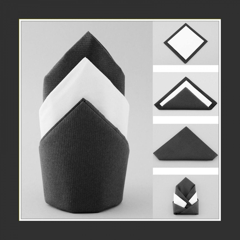 Servietten+Falten+Anleitung+Zwei+Servietten (1600×1600 von Servietten Falten Hochzeit Zwei Servietten Bild