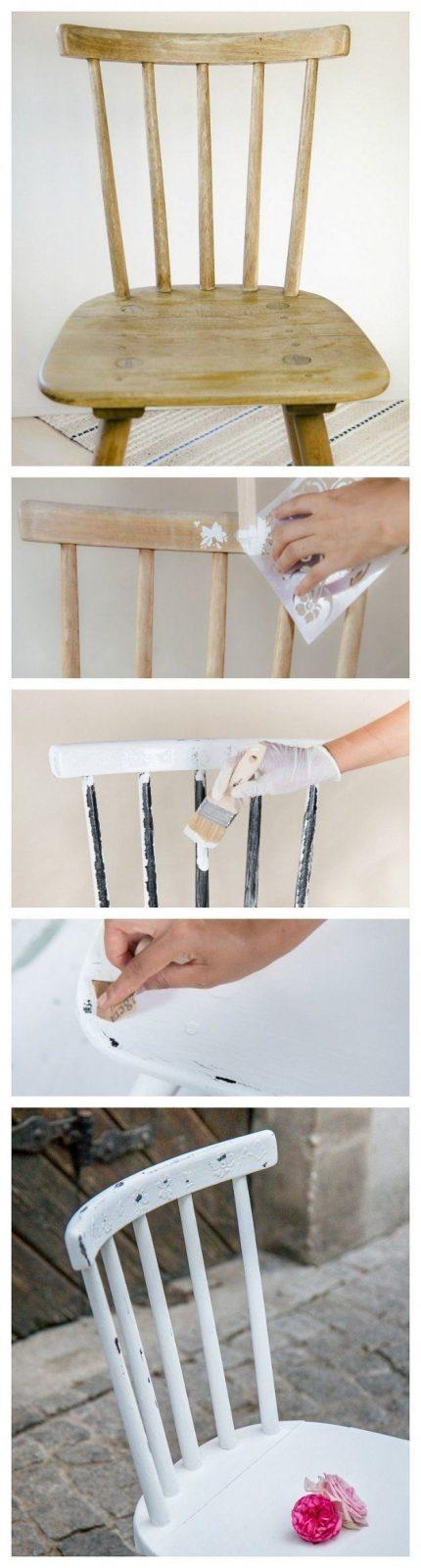 Shabby Chic Möbel Selber Machen Kreidefarbe Anwenden Und Möbel Im von Antik Look Selber Machen Bild