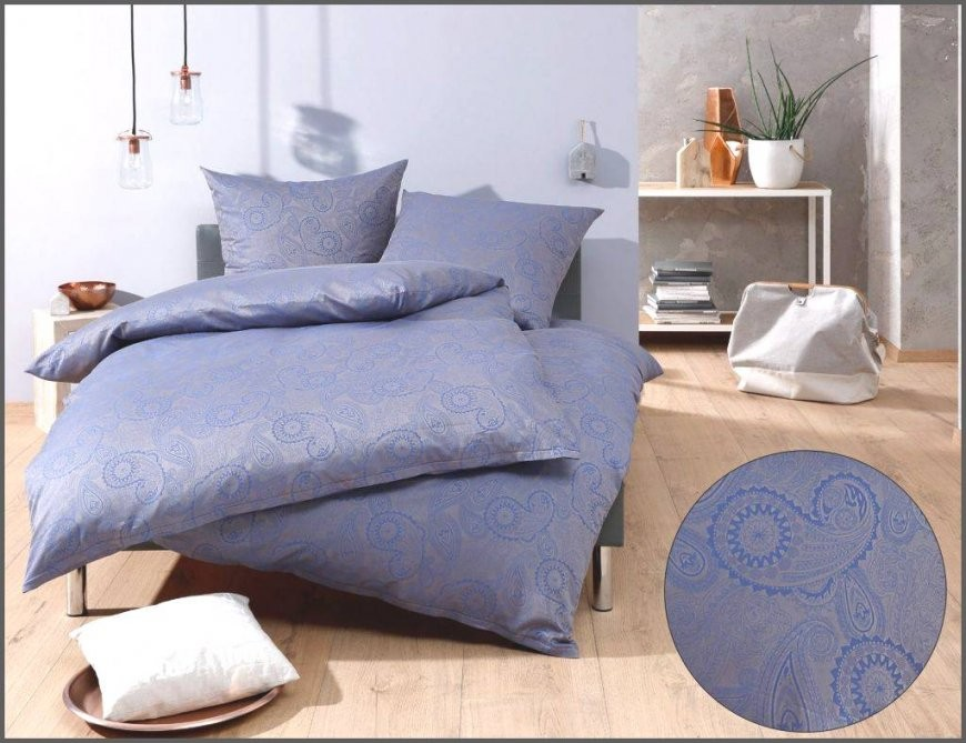 Shining Design Bettwäsche Blau Grau Mako Satin Damast Paisley Von von Bettwäsche 155X220 Mako Satin Reduziert Photo