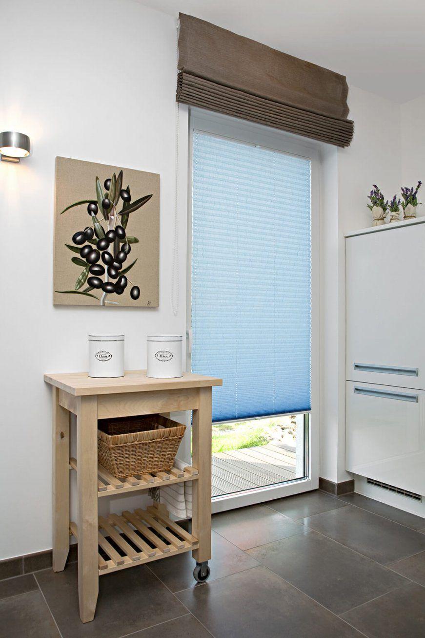 Sichtschutz In Der Küche  Vorhänge Plissees Und Rollos von Plissee Und Gardinen Kombinieren Bild