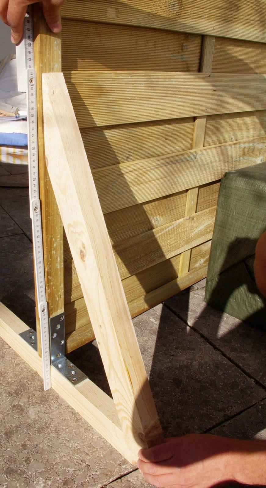 Sichtschutz Paravent Garten Balkon Selber Bauen Anleitung Diy Höhe von Paravent Selber Bauen Anleitung Bild