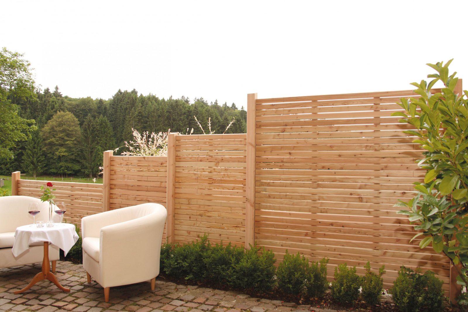 """Sichtschutz """"rhombus"""" Aus Douglasie Sichtschutzelemente Bestehen von Garten Sichtschutz Holz Schöner Wohnen Bild"""