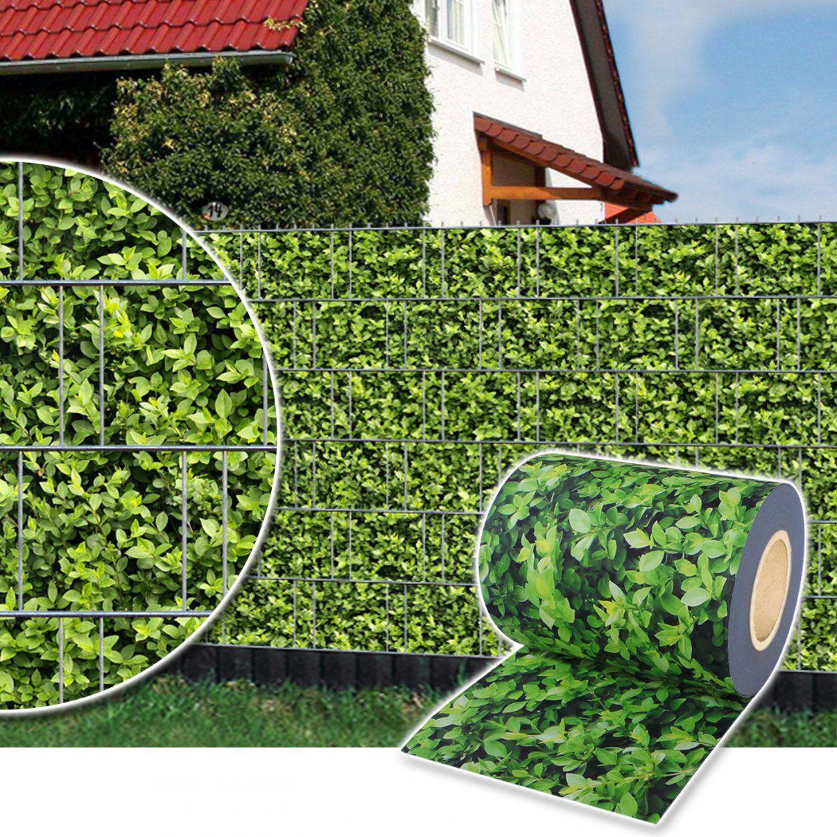 Sichtschutz Rolle Zaunfolie Stabmatten Zaun Streifen Folie Pvc von Pvc Sichtschutz Für Doppelstabmatten Photo