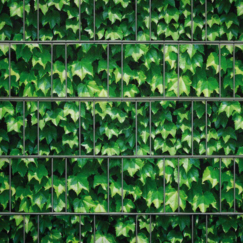 Sichtschutzstreifen Doppelstabmatte  Weinblatt Grün von Pvc Sichtschutz Für Doppelstabmatten Bild