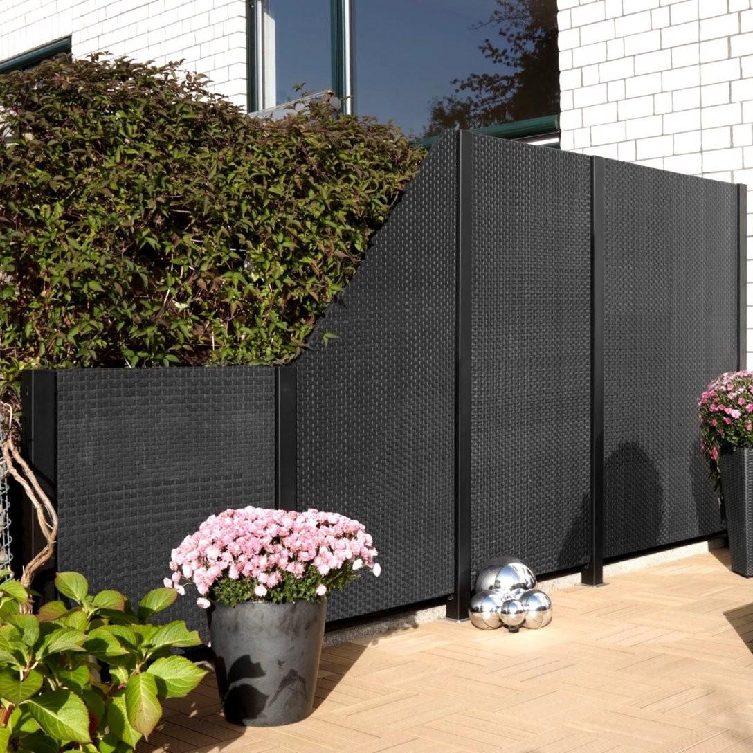sichtschutz garten kunststoff grau haus design ideen. Black Bedroom Furniture Sets. Home Design Ideas
