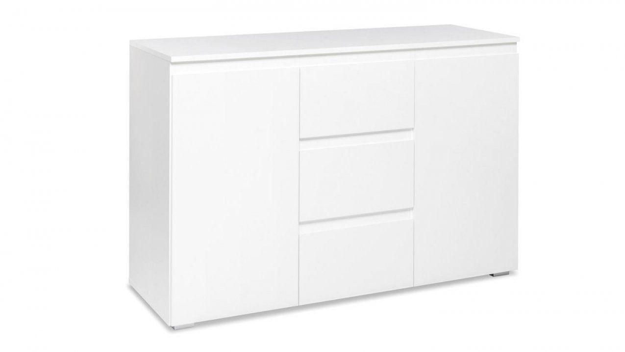Sideboard Blanc 4 Grifflose Kommode In Weiß 120 Cm Breit von Schrank Weiß 120 Breit Bild