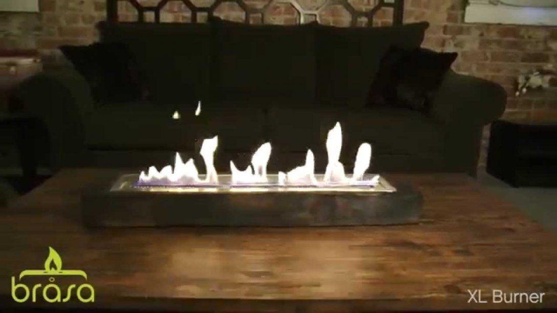 Sienna Feuerstelle Von Brasa  Ethanol Tischkamin  Youtube von Ethanol Tischkamin Selber Bauen Bild