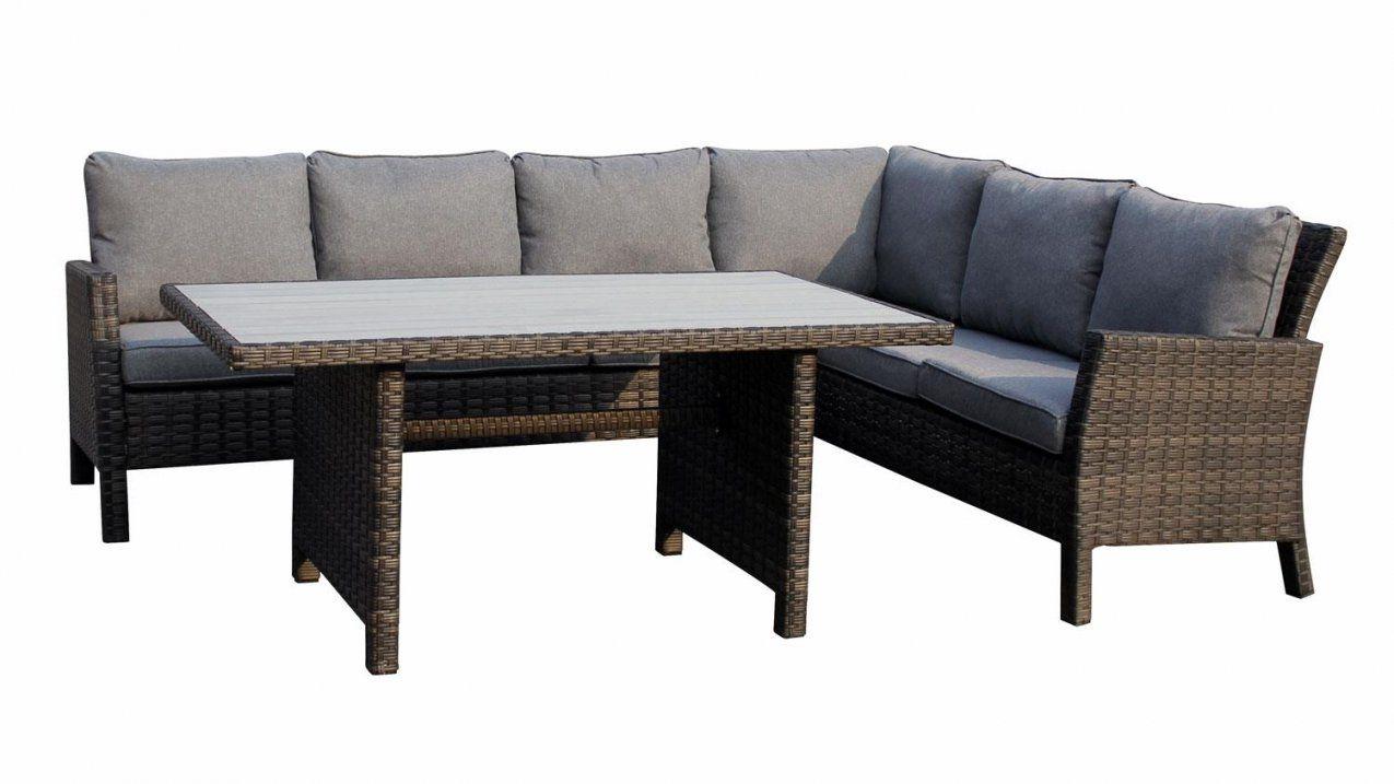 ... Sitzecke Madison Eckbank Mit Tisch In Polyrattan Grau Braun Von Polyrattan  Eckbank Mit Esstisch Bild Outdoorloungemöbel ...