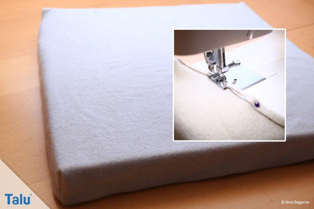 Sitzkissenstuhlkissen Selber Nähen  Nähanleitung + Schnittmuster von Sitzkissen Für Bank Selber Nähen Bild