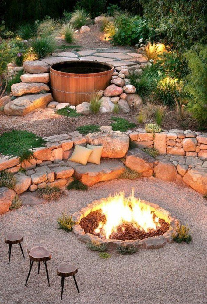 Sitzplatz Mit Feuerstelle Mit Feuerstelle Im Garten Bilder Actof von Feuerstelle Im Garten Bauen Photo