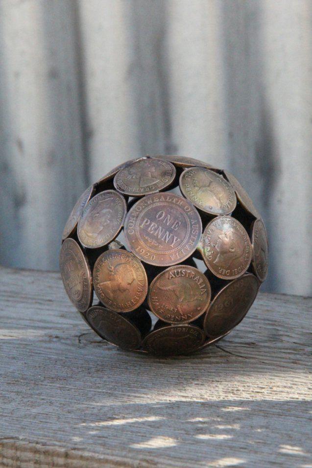 Skulpturen Im Garten – 38 Ideen Für Die Kugel Als Akzent von Skulpturen Aus Metall Für Den Garten Bild
