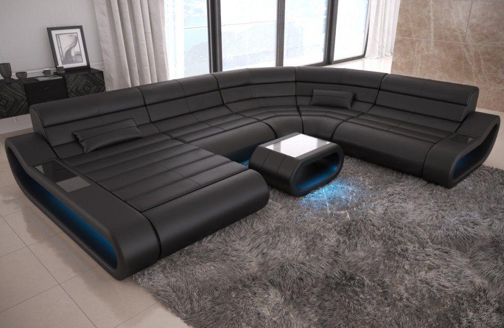 Sofa Wohnlandschaft Leder Couch Design Sofa Ottomane Concept Xxl Led von Xxl Wohnlandschaft Leder Ottomane Bild