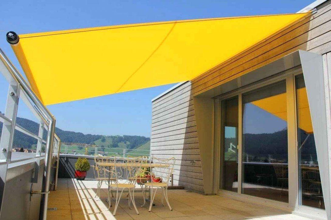 Sonnenschutz Balkon Seilspanntechnik Rechteckige Sonnensegel von Sonnensegel Balkon Ohne Bohren Bild