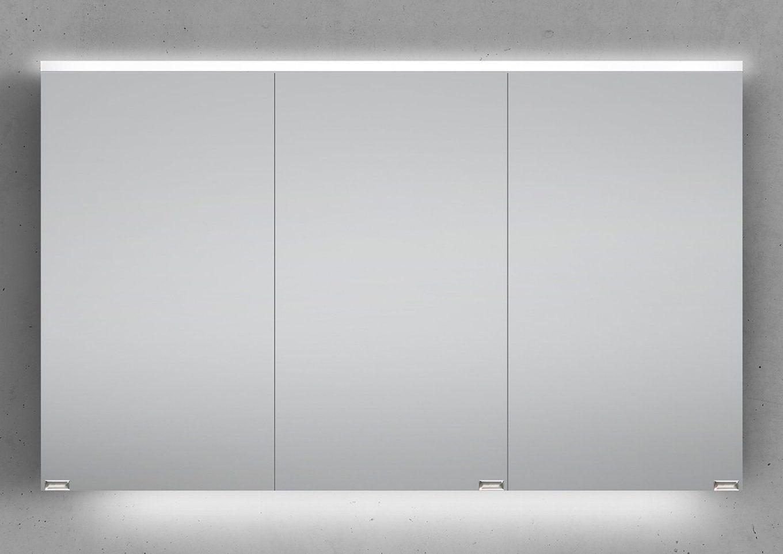 Spiegelschrank 120 Cm Integrierte Led Beleuchtung Doppeltverspiegelt von Bad Spiegelschrank Led Leuchte Bild
