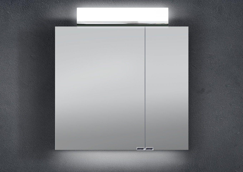 Spiegelschrank 60 Cm Led Beleuchtung Doppelt Verspiegelt von Spiegelschrank Bad 60 Cm Photo