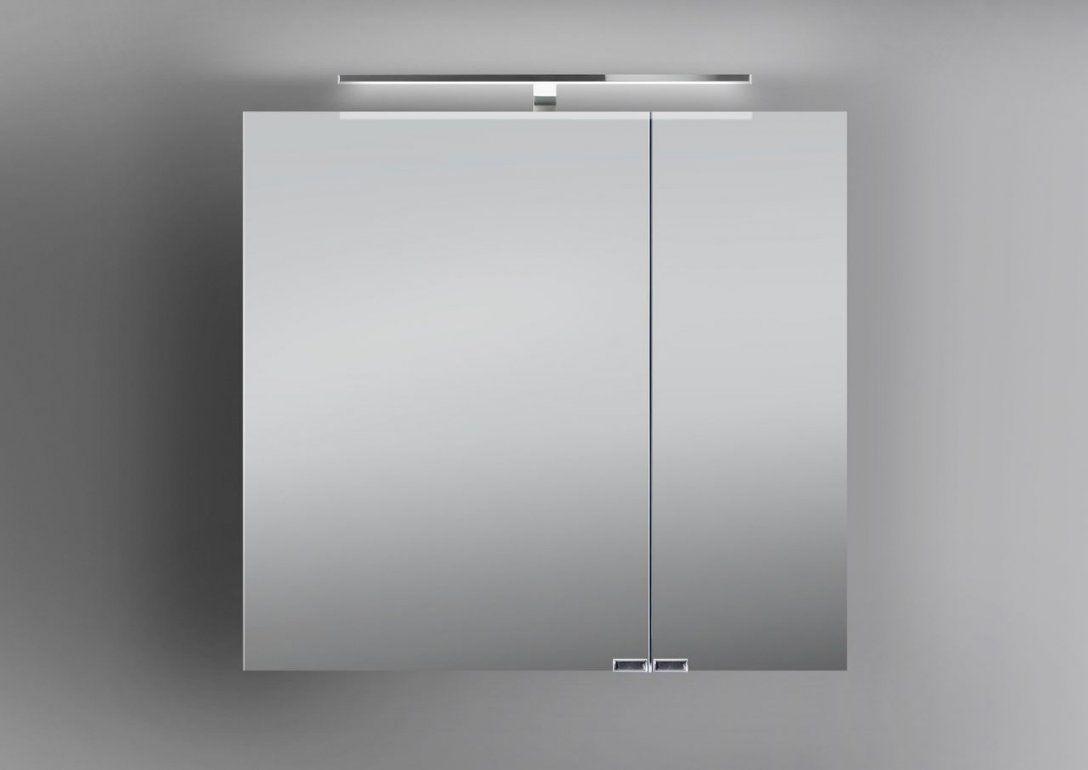 Spiegelschrank Bad 60 Cm Led Beleuchtung Doppelt Verspiegelt  Weiß von Spiegelschrank Bad 60 Cm Bild