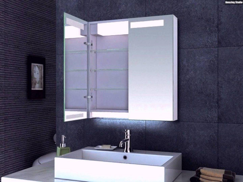 Spiegelschrank Fur Das Badezimmer Mit Led Beleuchtung Gebraucht Cm von Spiegelschrank Für Kleines Bad Bild