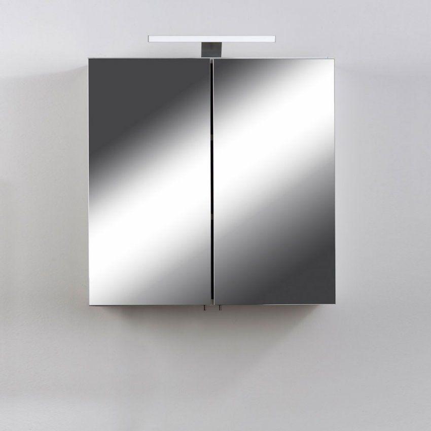 Spiegelschrank Narcisso In Weiß Mit Led Licht  Pharao24 von Bad Spiegelschrank Led Leuchte Photo