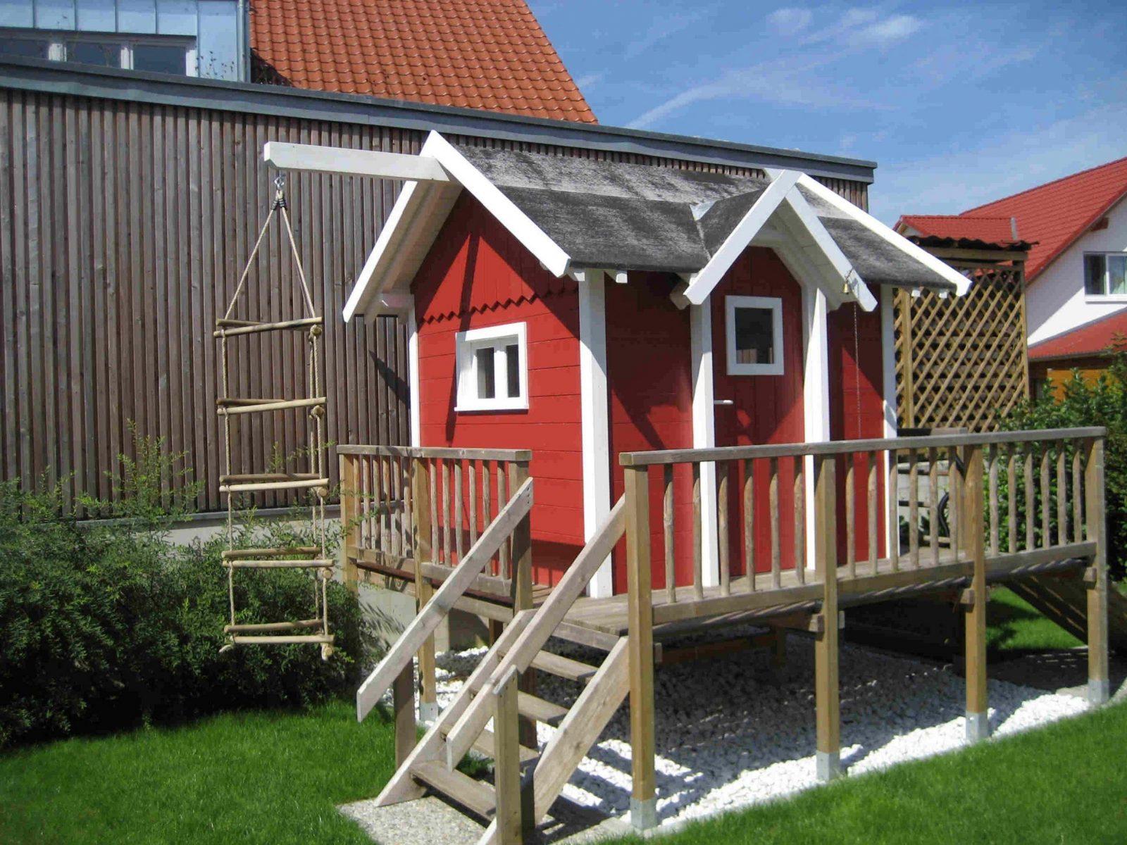 Spielhaus Alina  Rolandsbauplaene von Spielhaus Holz Selber Bauen Bild