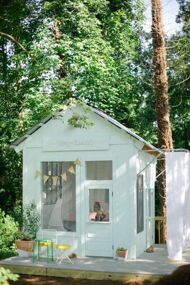 Spielhaus Für Den Garten Selber Bauen Diy Anleitung  Diy Garten von Gartenhaus Kinder Selber Bauen Bild
