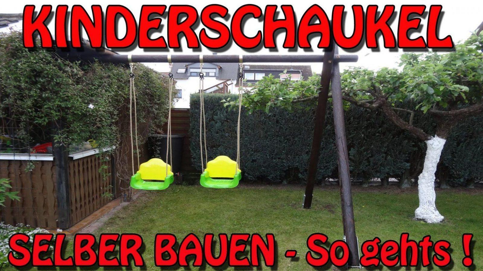 """Stabile Kinderschaukel Selber Bauen"""" Tipps Und Tricks Von Horst von Gartenschaukel Selber Bauen Anleitung Bild"""