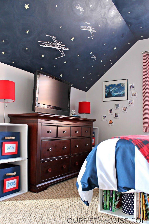 Star Wars Bedroom For Boys  It Was An Inexpensive Way To Bring Home von Star Wars Kinderzimmer Einrichtung Bild